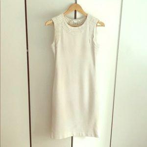 Diane Von Furstenberg White Sheath Dress, Size 4